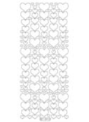 Deco Stickers - Glitter Hearts