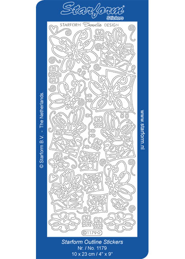 Deco Stickers - Doodle Design Butterflies/Flowers