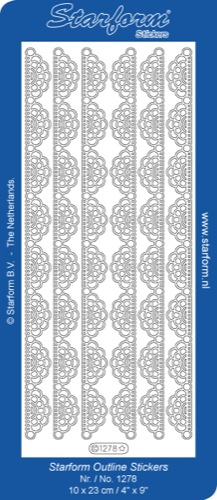 Deco Stickers - Lacey Chain Ribbon