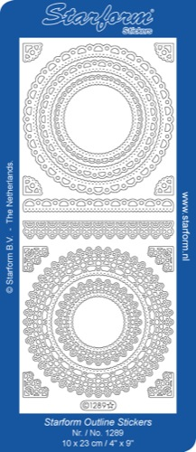 Deco Stickers - Floral Circle Frame