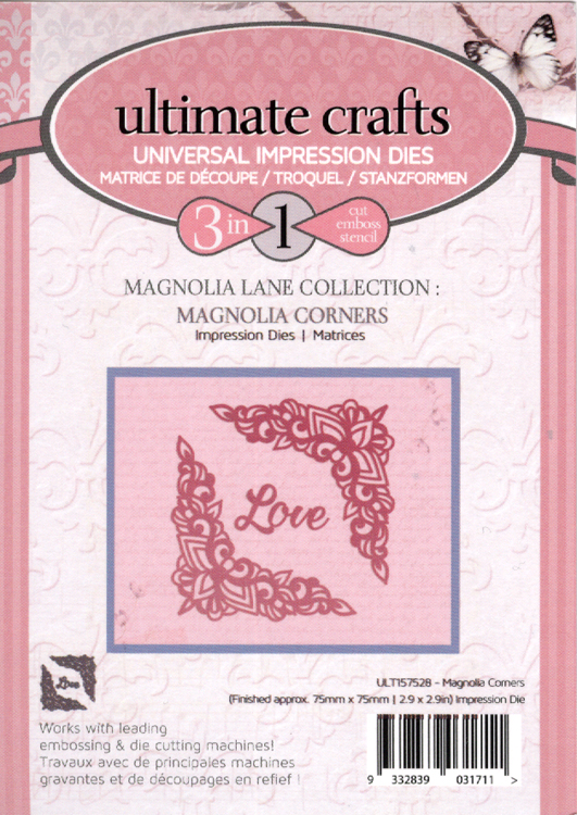 Couture Creations Impression Die - Magnolia Corners