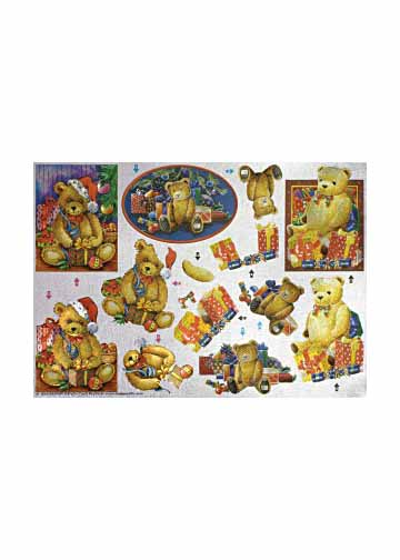 Metallic Pre Cuts 3-D Step by Step Christmas Teddies (248560)