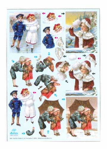 Metallic Precuts Sheet Victorian children