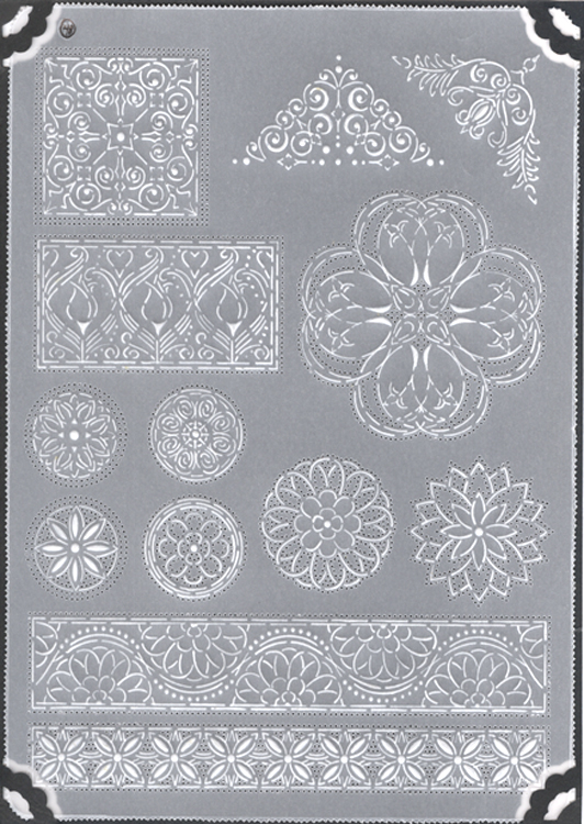 Pergamano Multi Grid #48 - Floral Ornaments 2