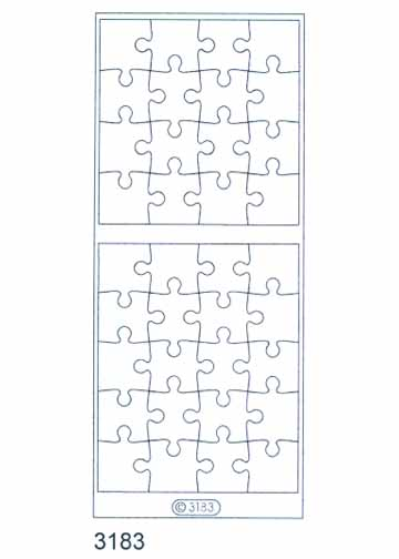 Deco Stickers - Clear Puzzle Pieces