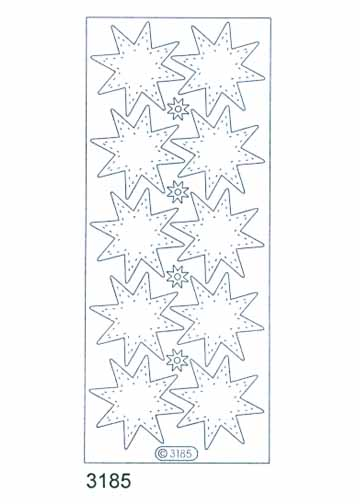 Deco Stickers - Transparent Stars