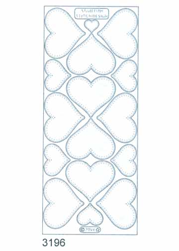 Stitch by Design Stickers - Large Hearts