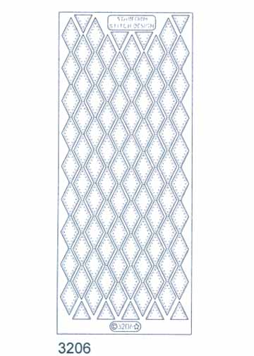 Stitch by Design Stickers - Diamond Border