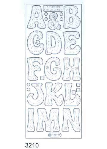 Stitch by Design Stickers - Alphabet