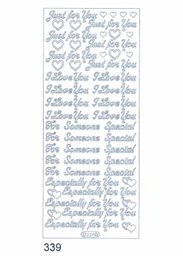 Deco Stickers - Just for you/I love you