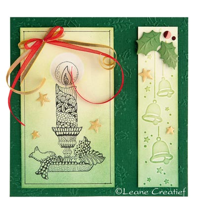Lea'bilities Border Embossing Folder - Christmas bells