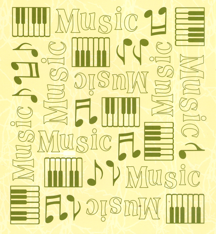 "Embossing folder background Music 6"" x 6.5"""