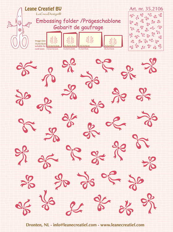 Embossing folder background Bows