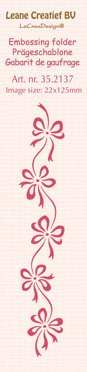 Border embossing folder Bows