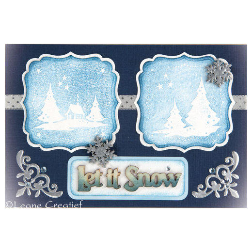 Ecstasy Crafts Leane Creatief - Embossing Folder - Frames Winter