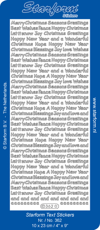 Deco Stickers - Variety Sayings Christmas