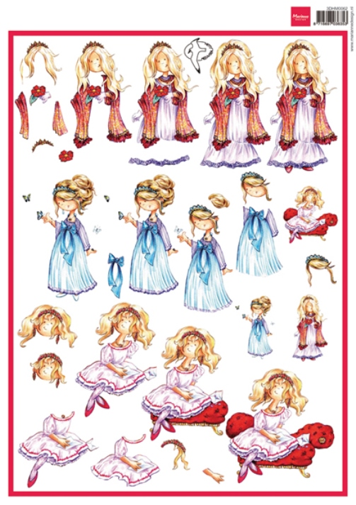 Marianne Design Cutting Sheet - Snoesjes - Princess