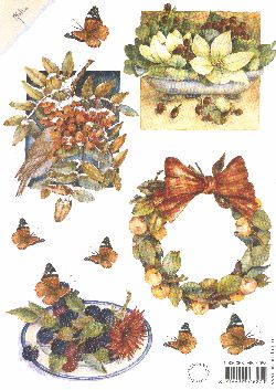 Mattie Print - birds & wreath