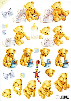 Ecstasy Crafts Mattie Print - Teddy Bears (boy)