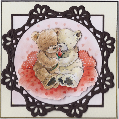 3D Precut Popcorn Bear-Romantic