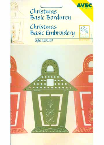 Christmas Basic Embroidery Stencil Light