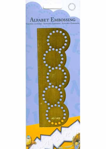 Alphabet Embossing Stencil - double circle