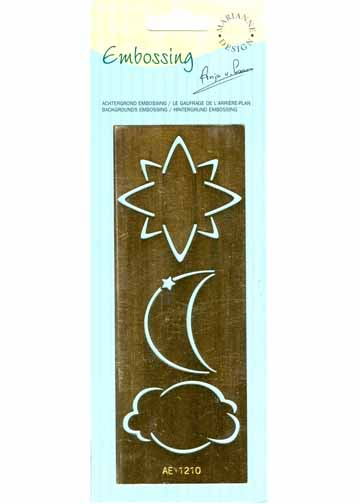 Ecstasy Crafts Embossing Stencil - Moon/cloud/star (ae1210)