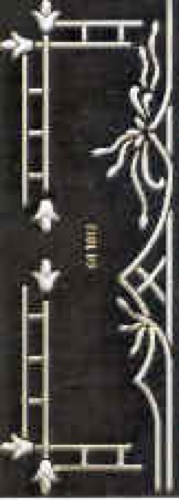 Ecstasy Crafts Mattie Stencils - Border Decorative (eh1812)