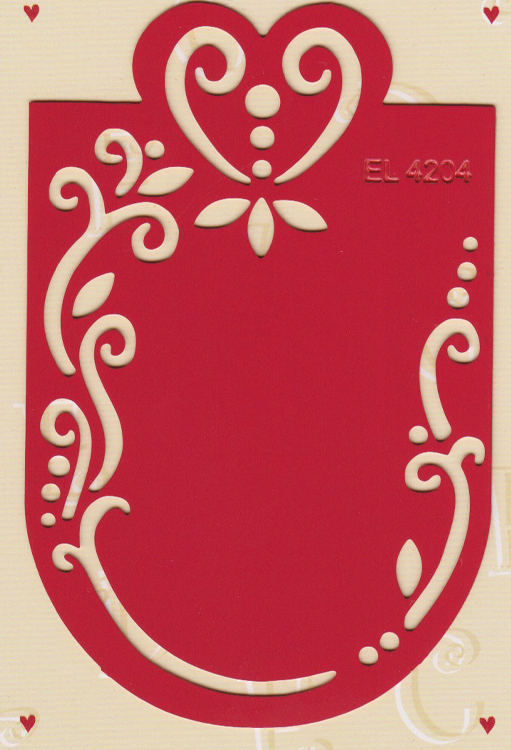 Ecstasy Crafts Label Stencil - Heart (el4204)