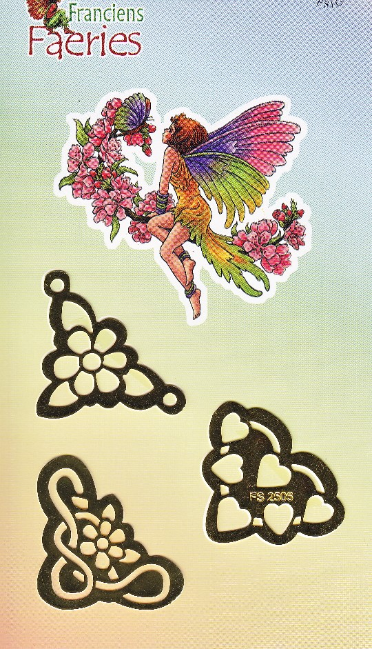 Franciens Faeries Multistencil - 3 small flower/heart