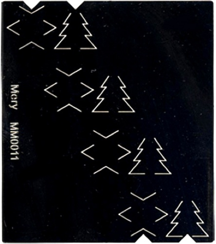 Stencils Mery's Cutting Stencil - Christmas Trees And Stars