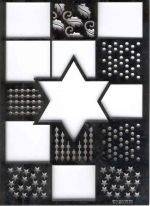 Switch Embossing Stencil - Star Rectangle (MM0502)