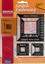Ecstasy Crafts Switch Stencils - Square Words
