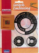 Switch Embossing Stencil Circles Words