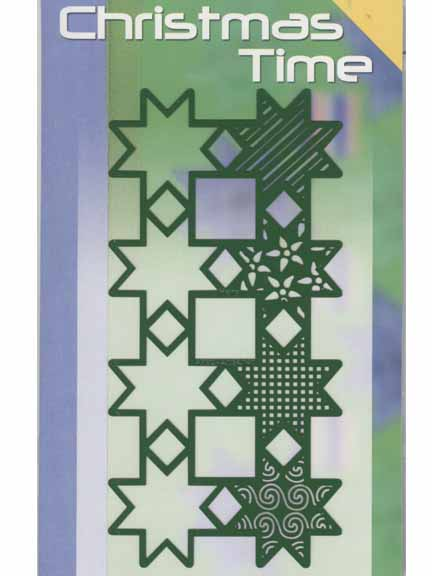 Stencils Christmas Time Template - 8 Stars