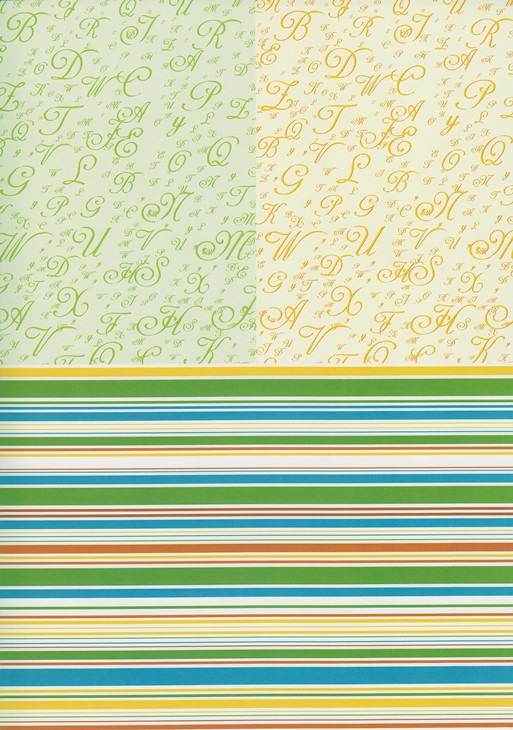 Iris Folding Sweet Papers Green (4 Sheets)