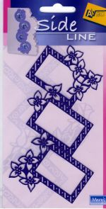 Sideline Rectangle Flower Stencil