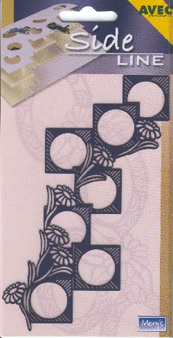 Stencils Sideline Embossing Stencil - Squares & Daisies