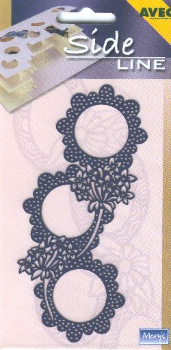 Sideline Embossing Stencil - Geraniums & Circles