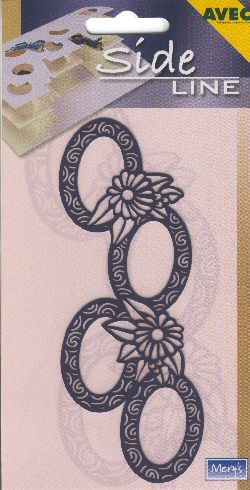 Sideline Embossing Stencil - Ovals & Daisies