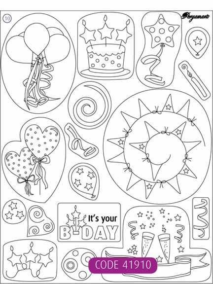 Pergamano Clear Stamps - Birthday