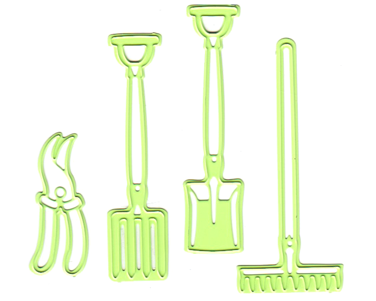 Lea'bilities Garden Tools Embossing and Cutting Die