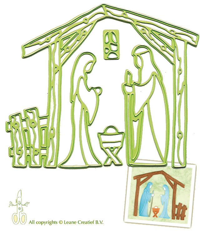 Lea'bilities Embossing and Cutting Die - Nativity scene