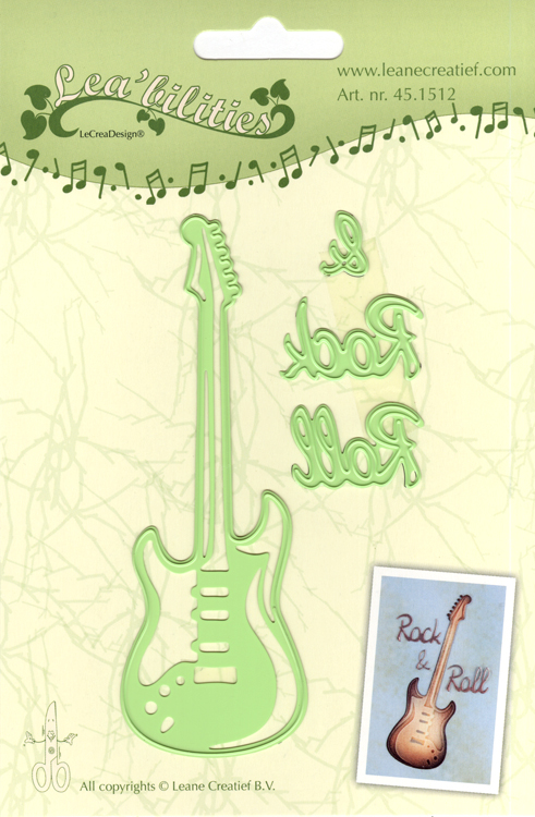 Lea'bilitie® Guitar, cut and embossing die