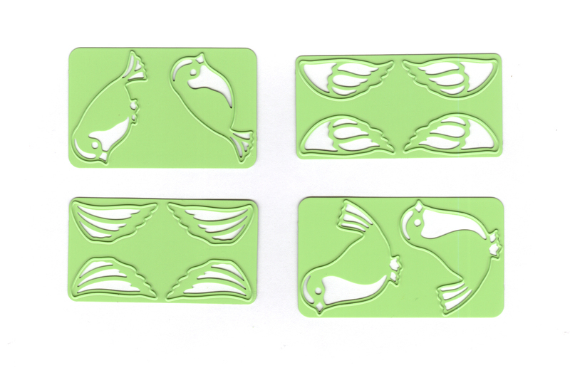 Lea'bilitie® small Birds, cut and embossing die