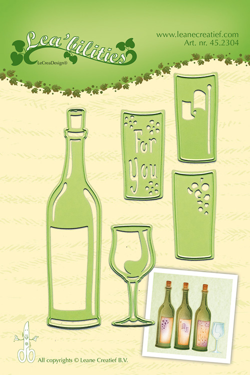 Lea'bilitie® Wine Bottle & Glass Die