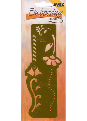 Ecstasy Crafts Embossing Border Stencil - Flowers