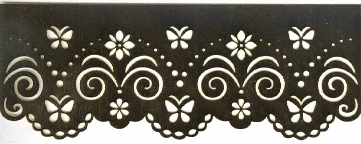 Embossing Stencil border - Sm Butterfly
