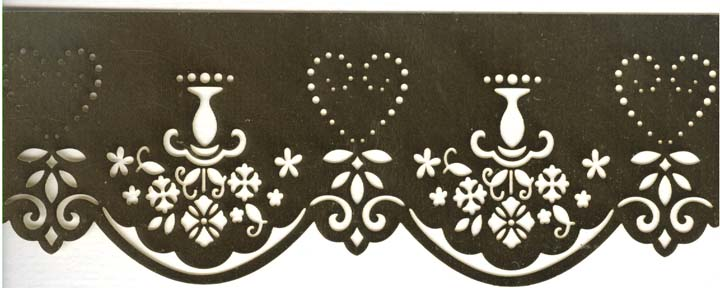 Embossing / cutting Stencil-Heart