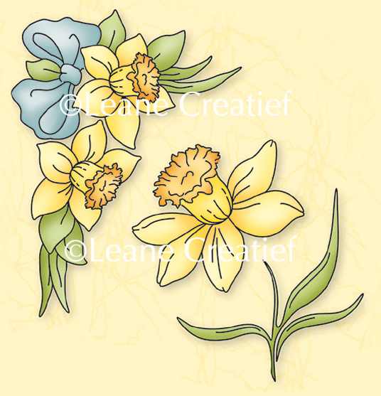 Lea'bilities Clear Stamp Daffodils (2)